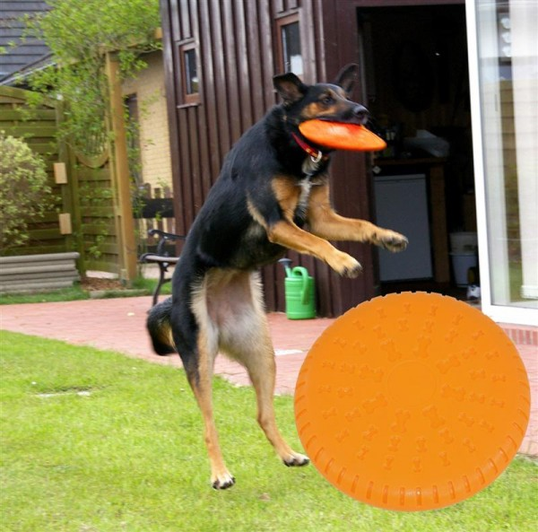 nanook Hundefrisbee Maximum - 23 cm Ø orange Gummi weich splitterfrei